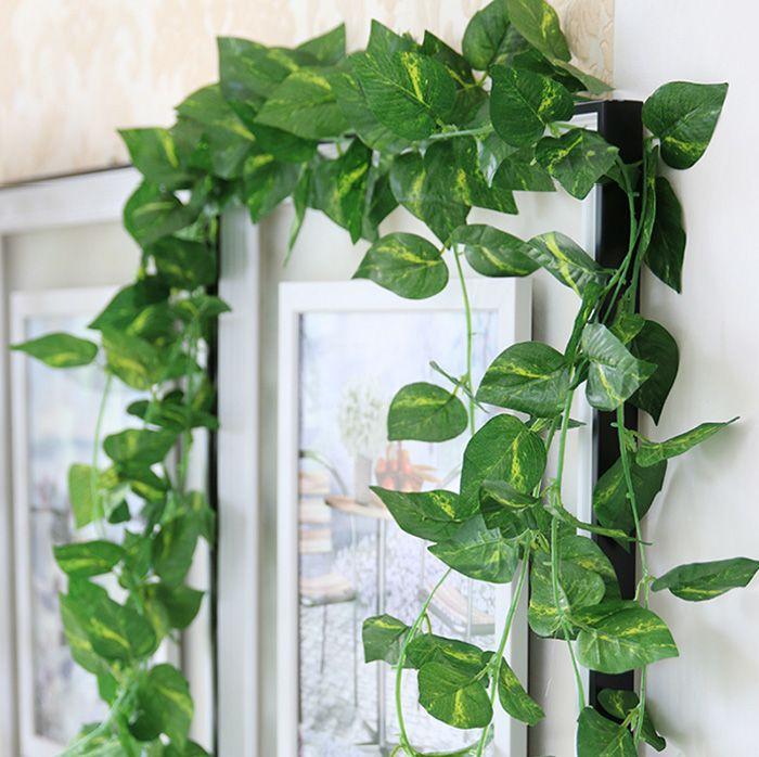 2019 Artificial Fake Decorative Vine Silk Plants Leaves