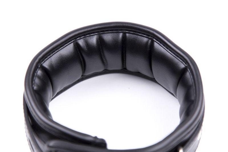 Accesorios de sujeción de cuero Gear Collares adultos para el sexo Collar de esclavo con cadena Correa Cuello sexual BDSM Juguetes sexuales para pareja Juegos para adultos