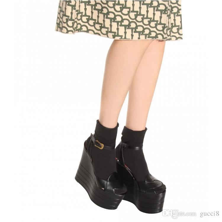 T Show Platform Zapatos sueltos Feminino Hot Brand Hebilla Punta abierta Cuña Summer Gladiators Roma Style Ladies Pumps