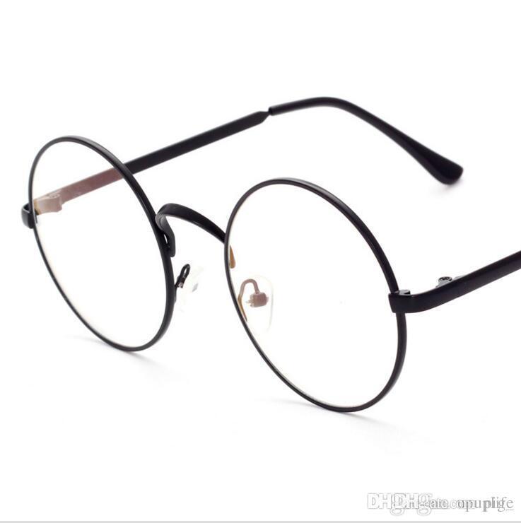 Fashion Women Brand Designer Round Eye Glasses Half Frame Cat Eye ...