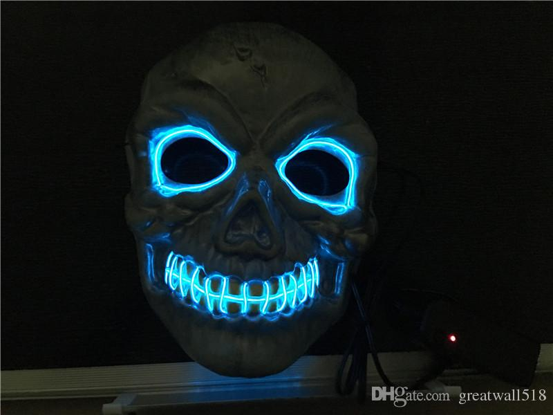 2018 El Wire Mask Coplay Led Mask Costume Anonymous Mask For Glowing ...