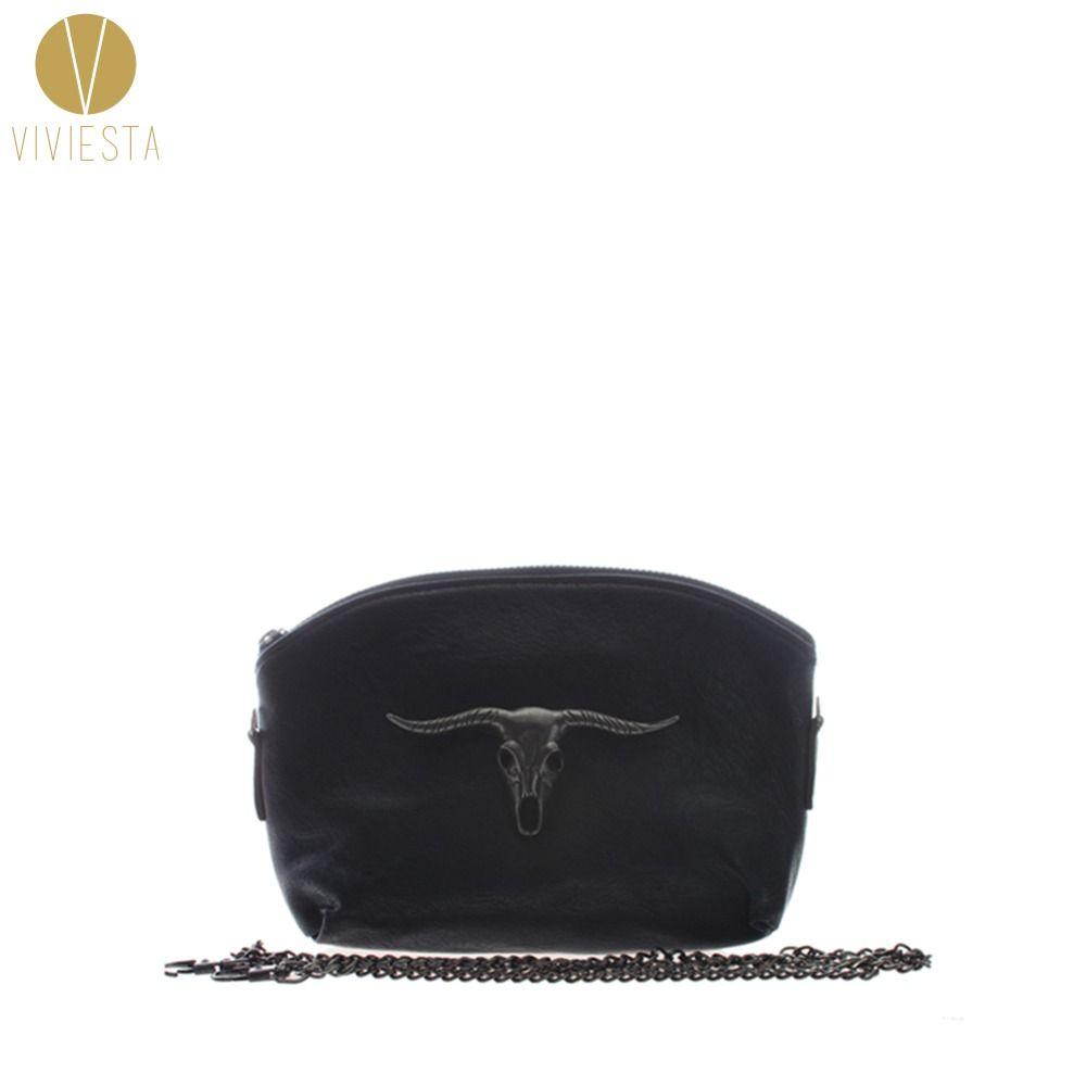 dd13dcf2dbb8 Wholesale PUNK GOAT COW HEAD CROSS BODY CHAIN BAG Women S Black Faux  Leather Mini Small Gothic Metal Fashion Shoulder Clutch Handbag Leather  Satchel Ladies ...
