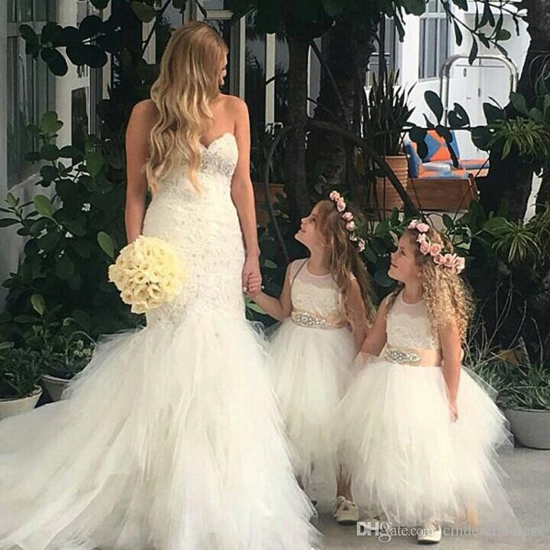 3d0f5e15d41 Lovely Ball Gown Ankle Length Flower Girls Dresses With Gold Ribbon Sash  Crystal Puffy Tulle Lace Applique Girls Pageant Party Gowns Yellow Flower  Girl ...