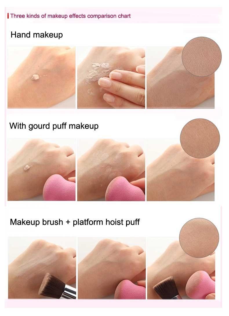 HaLu cosmétique feuilletée maquillage éponge de nettoyage gourde-type maquillage applicateur BB crème éponge fondation poudre blush blender outil 9 couleur