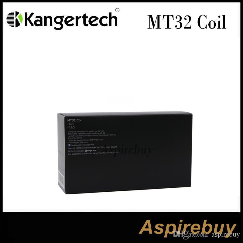 Kanger MT32 Bobin Bobin Ünitesi Evod / Protank 2 / Mini Protank 2 / Unitank Tüm Tek Bobinler için Isıtma Bobinleri Clearomizers 100% Orijinal