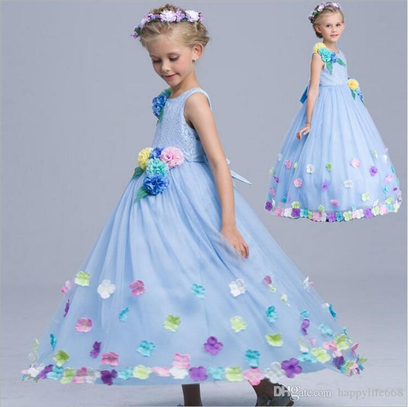 Best Princess Flower Girls Dresses For Weddings 2017 Girls Lace ...