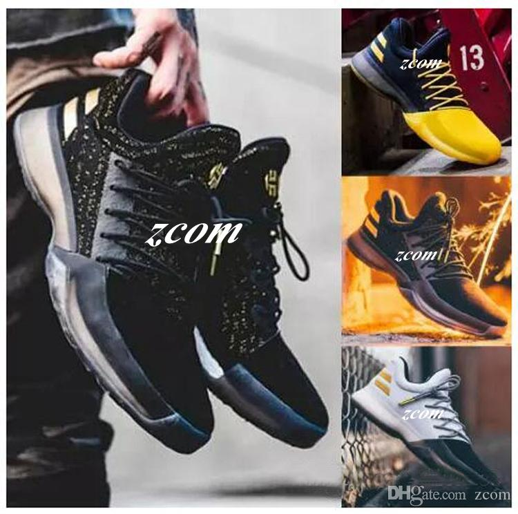 the latest 538ec a9d8e 2017 Hot Harden Vol. 1 BHM Black History Month Mens Basketball Shoes  Fashion James Harden Shoes Outdoor Sports Training Sneakers Size 40 46  Tennis Shoes ...