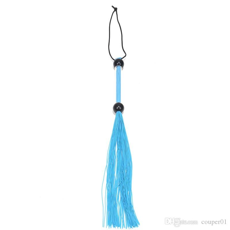 Newest Arrival Fashion Rubber Flogger Whip With Acrylic Handle Sex Spanking silicone Whips Sex Games Toys For Adult erotic toys