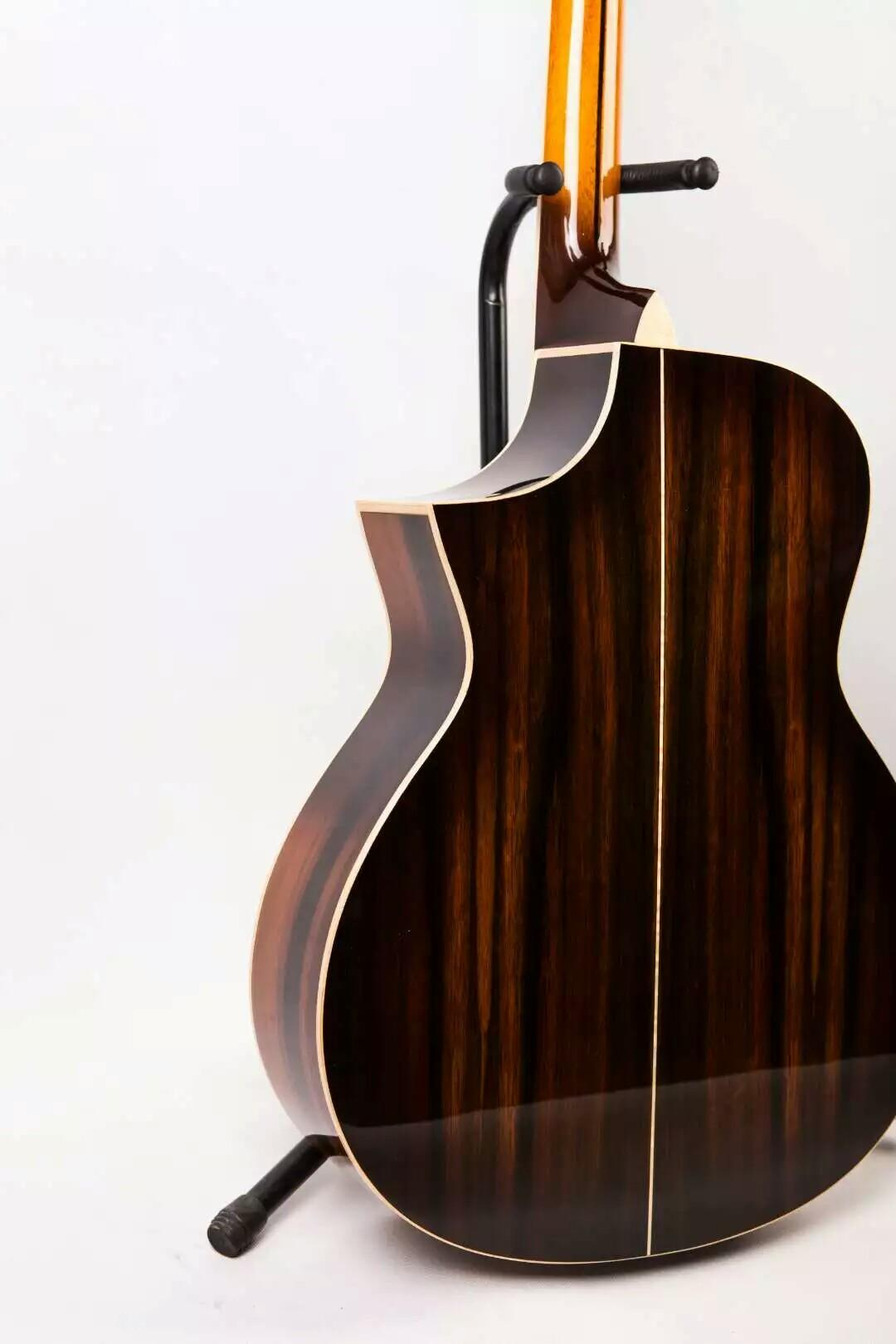 The new rhyme's hand guitar, panel west tical cloud unlined upper garment, lientang Indian rosewood. Quality assurance, not satisfied can re