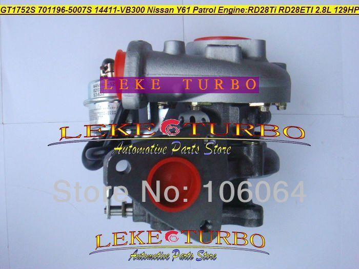 GT1752S 701196-5007S 14411-VB300 NISSAN Y61 PATROL RD28Ti RD28ETI 2.8L RD28T 129HP turbocharger (1)