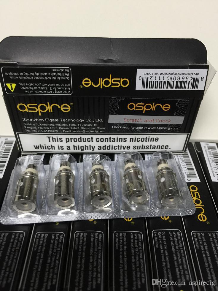 Aspire BVC Coil Bottom Vertical Coil Much taste Suit For K1 K2 K3 CE5 CE5-S ET ET-S Maxi Vivi Nova-S Atomizer TPD Original