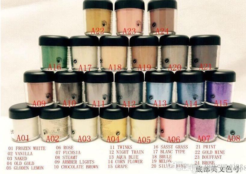 En düşük fiyat! SıCAK makyaj 7.5g pigment Göz Farı / Göz Farı İngilizce Renkler Adı Ile mix 24 renk