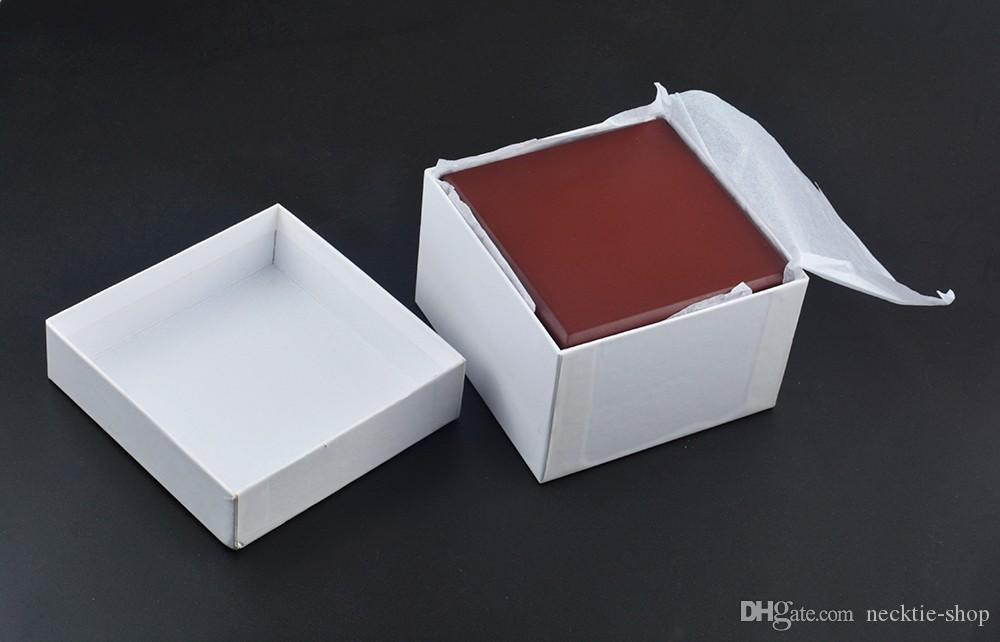 Middle Fiber Board Watch Box Flannel Pillow Watches boxs brown Jewelry Boxes