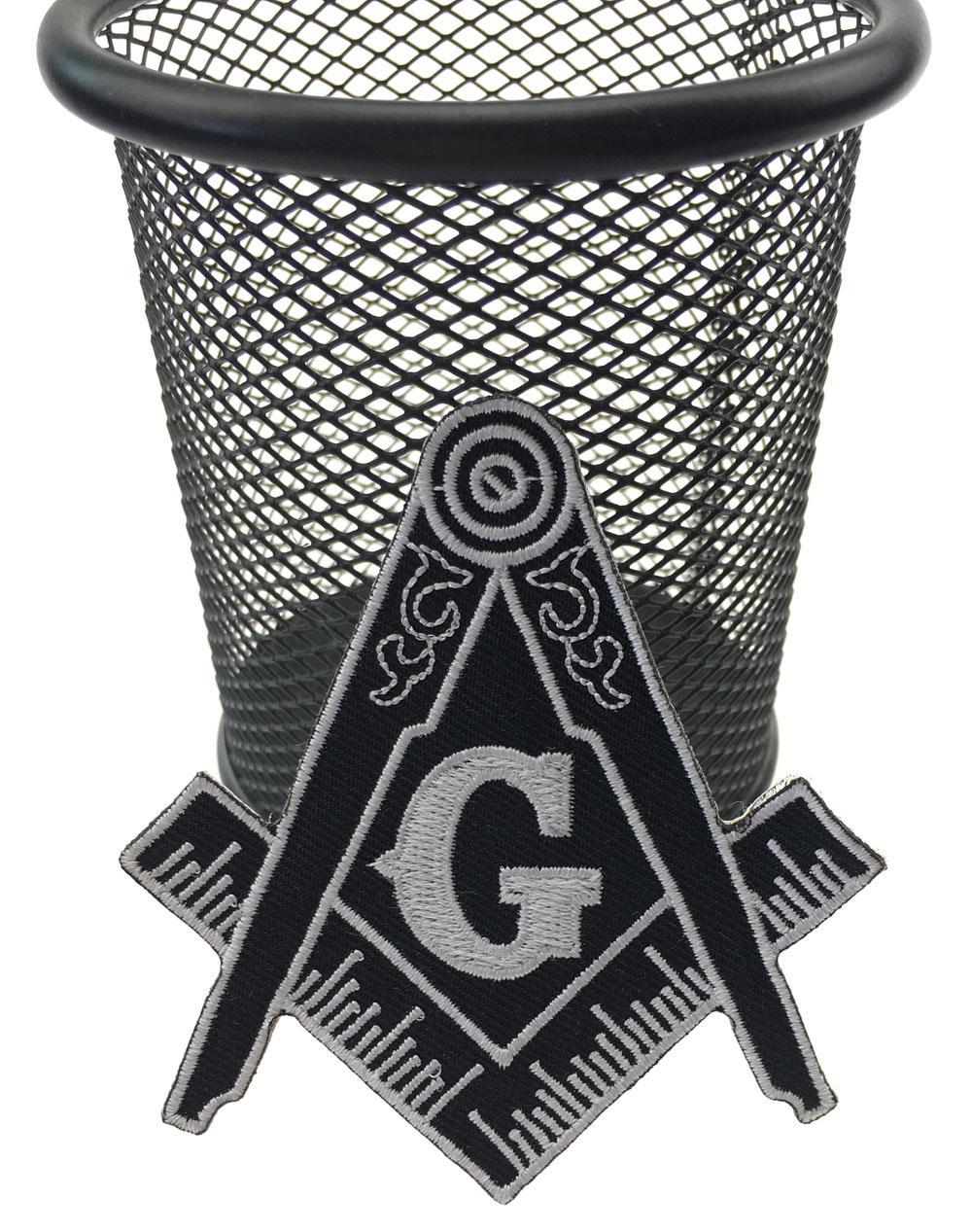 Hot Sale!Masonic Compass Patch Embroidered Iron-On Clothing Freemason Lodge Emblem Mason G Badge Sew On Any Garment