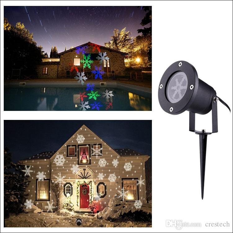 Cold white snow moving snowflake projector AC100-265V EU US UK AU plug snow moving LED decoration xmas lamp outdoor LED lights