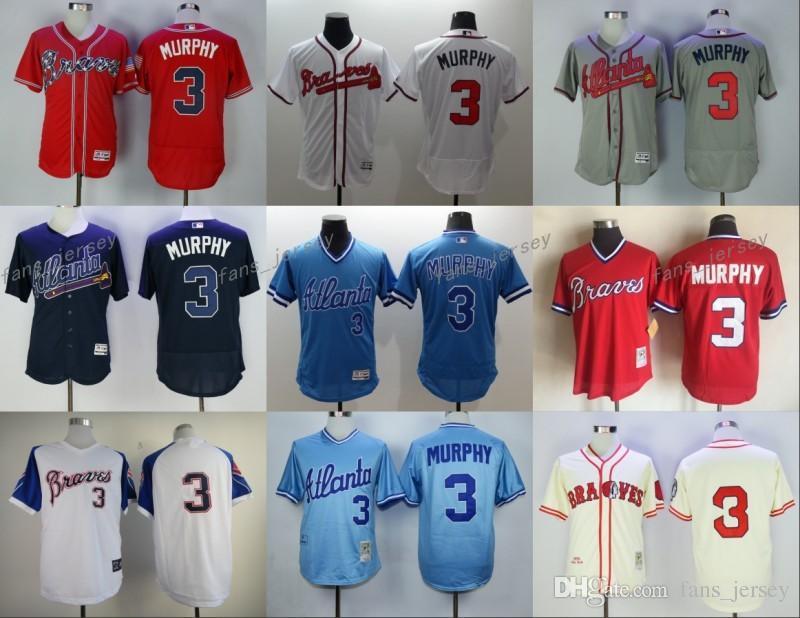 1094b6f41 ... 2017 2017 Mlb Flexbase Atlanta Braves 3 Dale Murphy Baseball Jersey  White Red Cream Black Cool ...