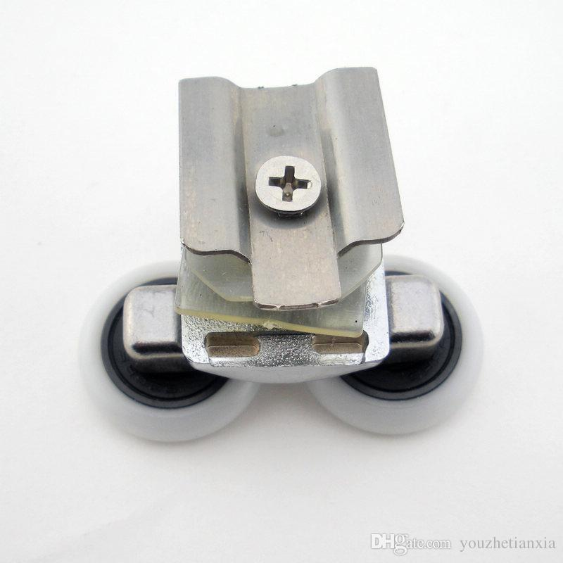 Kreisduschraumrolle Badezimmerglasschiebetürrolle Schiebetür justierbarer Rolle Bounce Wheel Haushalt