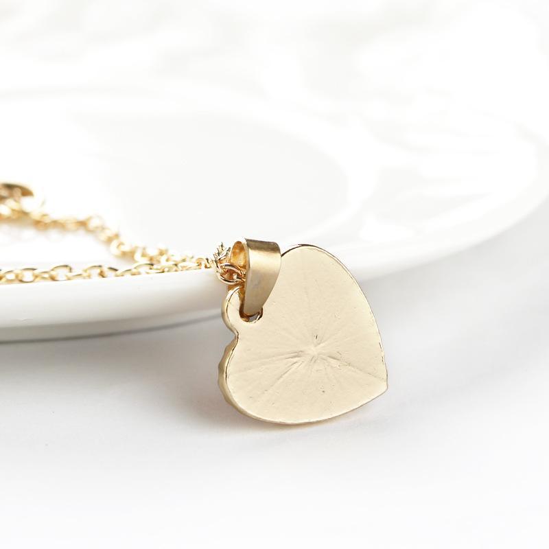 Collier Coeur Rouge Amour Pendentif Colliers Or Argent Pour Les Femmes Cadeau Robe De Soirée Collier Bijoux