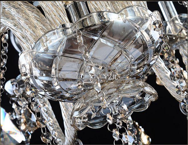 Modern European Crystal chandelier candle light chandelier warm simple atmospheric living room dining room bedroom chandeliers