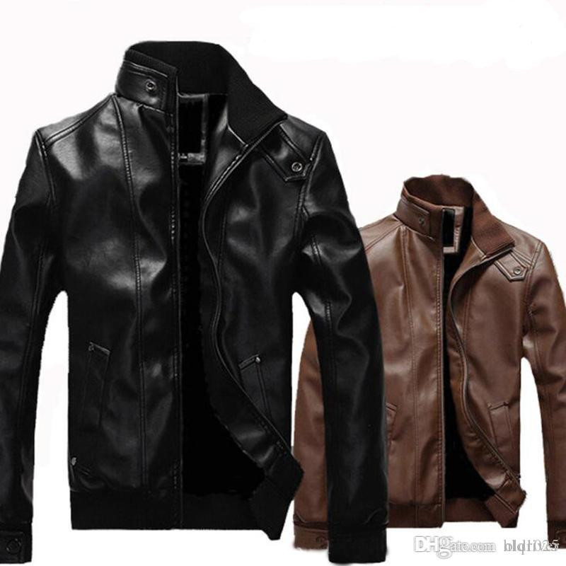 70c9ed884f3f Fashion Men PU Leather Jacket Spring Autumn New Design British Style Men  Leather Jacket Motorcycle Jacket Male Coat Leather Men Motorcycle Jacket  Jackets ...