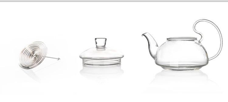 600 ml Resistente Ao Calor Com Alta Lidar Com Chá De Vidro De Café Pote de Chá Blooming Bules De Vidro Chinês J1011-2