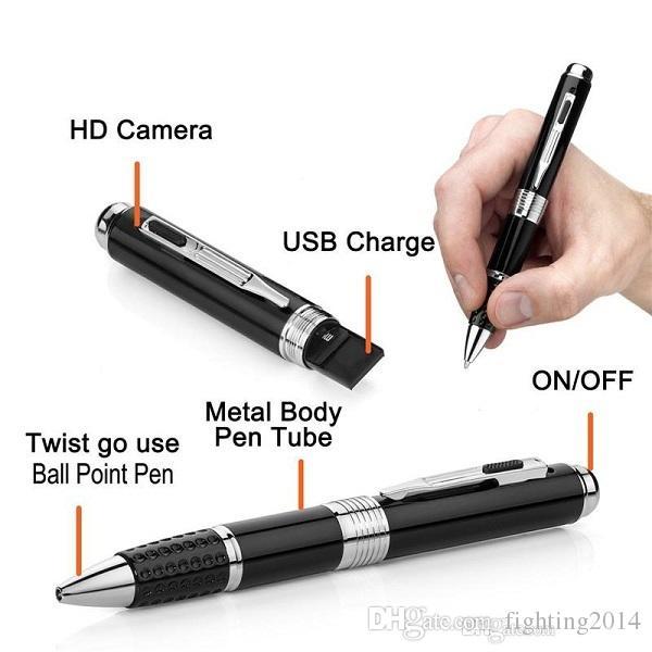 1080 P Kalem Kamera Tükenmez Kalem DVR Ses Video Kaydedici Gadget mini kalem kamera ile TF kart Yuvası