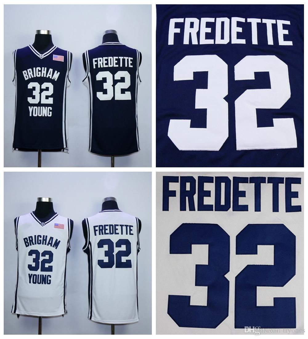 separation shoes baf36 4a5ab Cheap Brigham Young Cougars Jimmer Fredette College Basketball Jersey Navy  Blue Jimmer Fredette #32 Shanghai University Stitched Jerseys