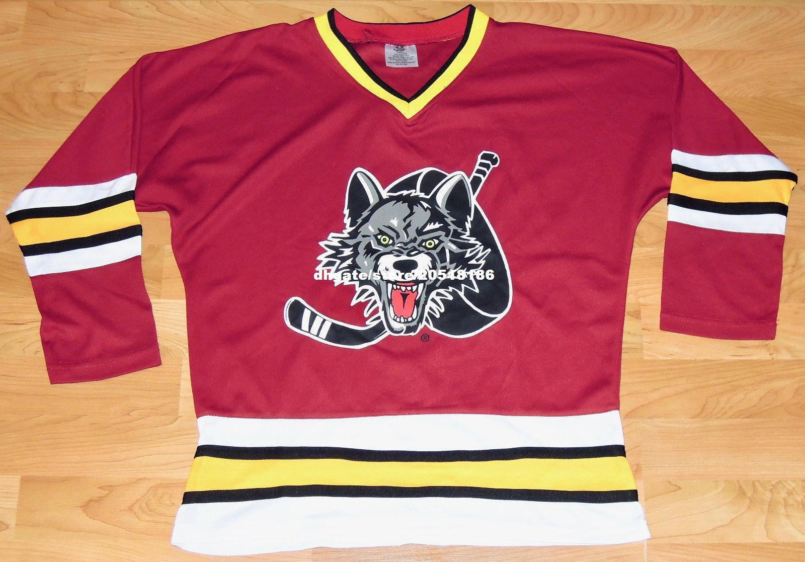 2019 Cheap Custom Chicago Wolves Minor League Hockey Jerseys PRINTED  GRAPHIC EUC Stitched Men S Hockey Jersey From Nfljersey1 53f7eb52ae8