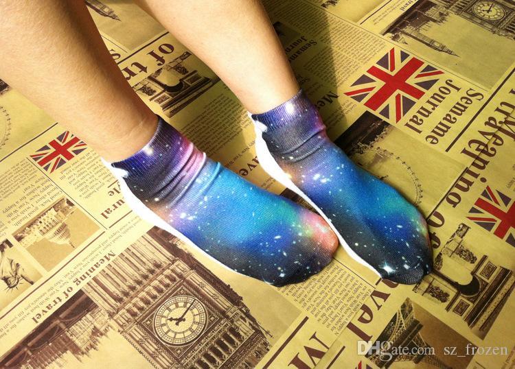 3D gedruckte Socken europäischer und amerikanischer Charakter harajuku Socken Unisex-nette niedrige Schnitt-Knöchelsocken-Karikatursocke freies Verschiffen A-0468
