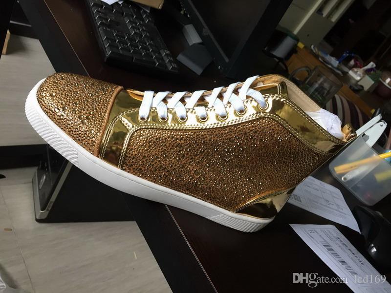 Zapatillas de deporte de lujo con zapatillas de deporte con clavos de Spikes zapatos negros Diseñador de calidad superior Nuevos Pisos de cuero genuino para EE.