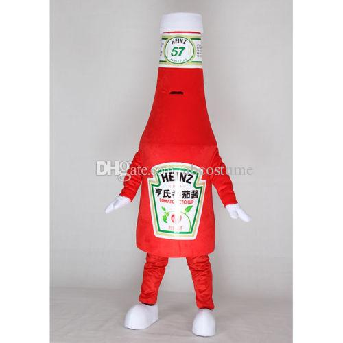 ketchup bottle restaurant fast food mascot costume fancy party dress halloween carnival costumes adult size high quality dinosaur costume halloween costumes