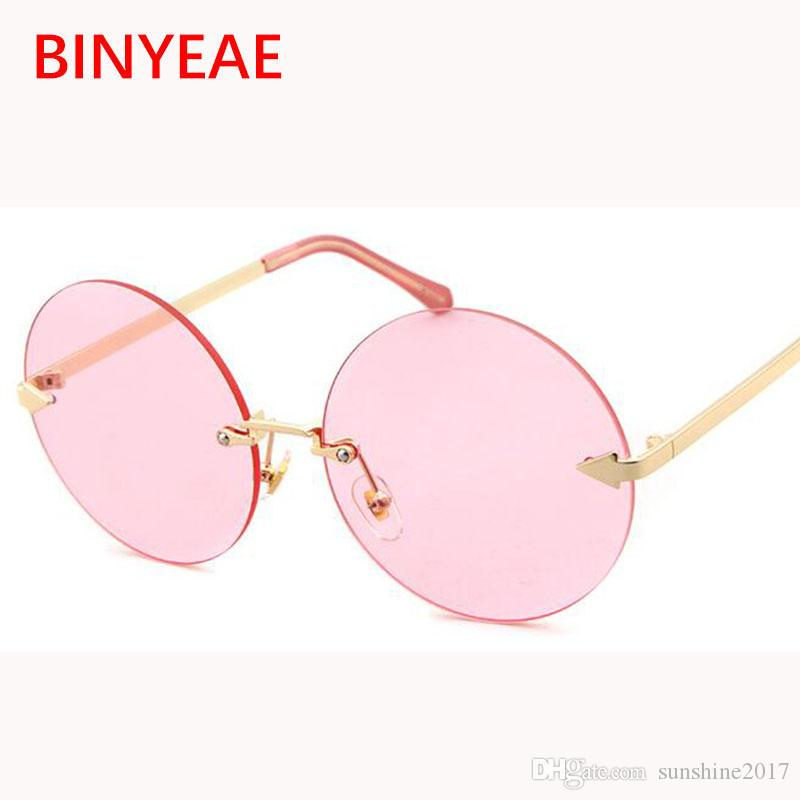 a4584f26339 Retro Round Sunglasses Women Brand Designer 2017 New Trend Gold Frame  Oversized Shades Transparent Sun Glasses Gold Circle Ladies Eyewear Round  Sunglasses ...