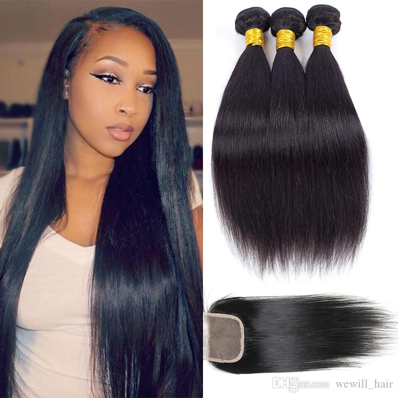 2018 Peruvian Straight Hair Weave Bundles Wholesale Remy Human Hair
