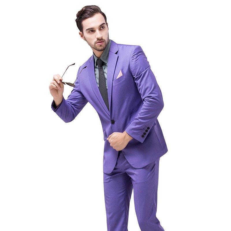 New Arrival Men Suit Shiny Wedding Groom Suits Jacket For Men Fashion tuxedo Multi-color Slim Fit Business Suit Jacket Pants