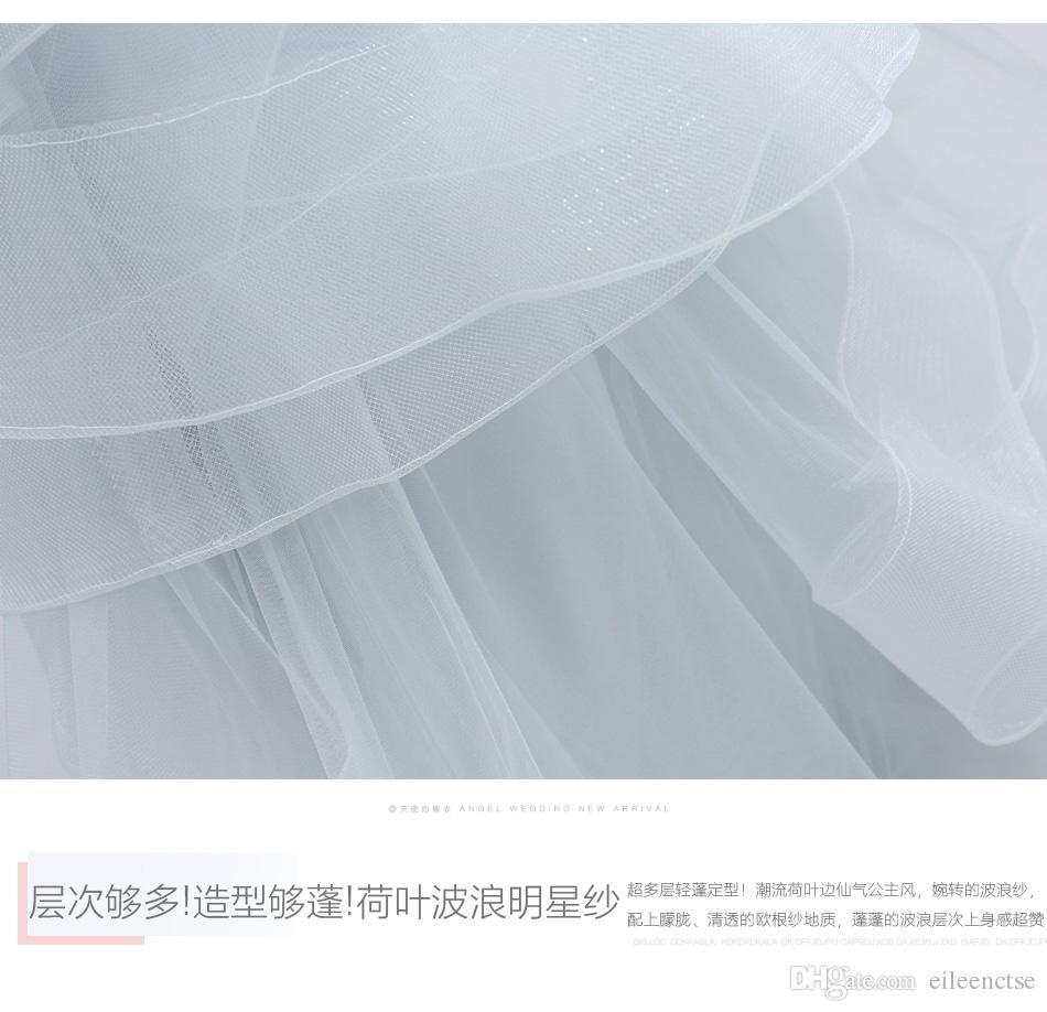 2019 Çin Yıldızı aynı stil akşam / Kokteyl Parti / Gelinlik modelleri backless düzensiz dantel katmanlı örgü hem hollow seksi giyim