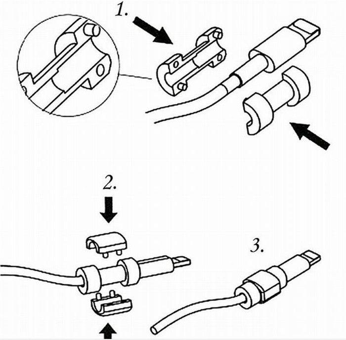 Protector de cable universal Cargador de sincronización de datos USB auriculares protector de cable Estuche protector Protectores para iphone X XS MAX XR 8 7 7s 6 6s más
