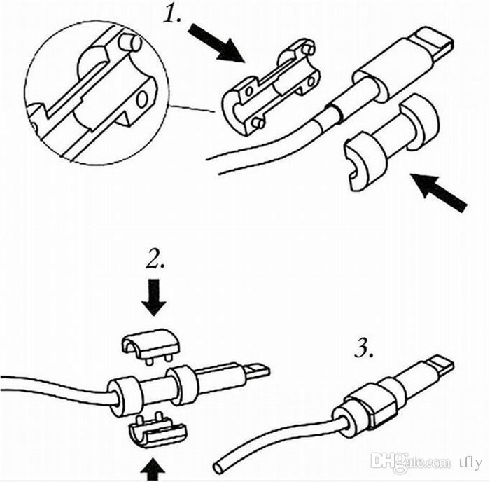 Universal cable saver Caricatore di sincronizzazione dati USB auricolari cavo di linea salvatore Custodia salvaschermo iphone X XS MAX XR 8 7 6 6S 5S plus SAMSUNG