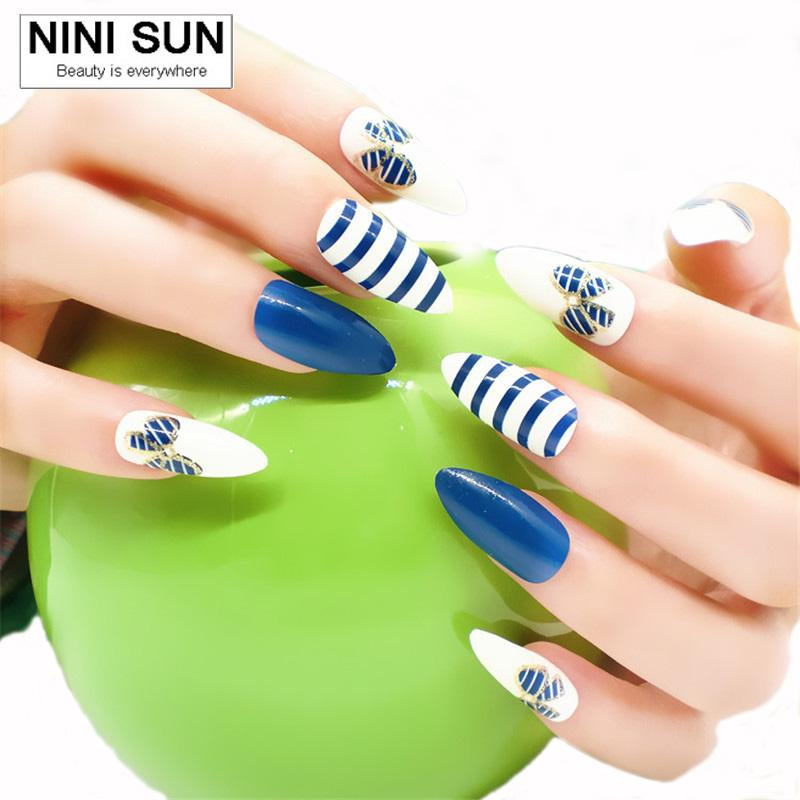 Wholesale 2016 False Nails French Nep Nagels Fake Nails For Nail Art ...