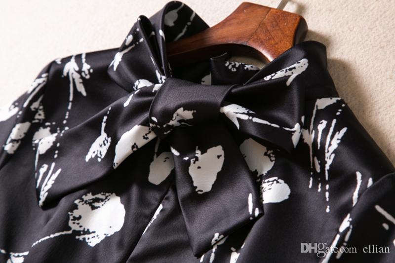 Kwiat Drukuj Kobiety Płaszcza Sukienka z Kieszonkowymi Suknie Krótki rękaw 09K579