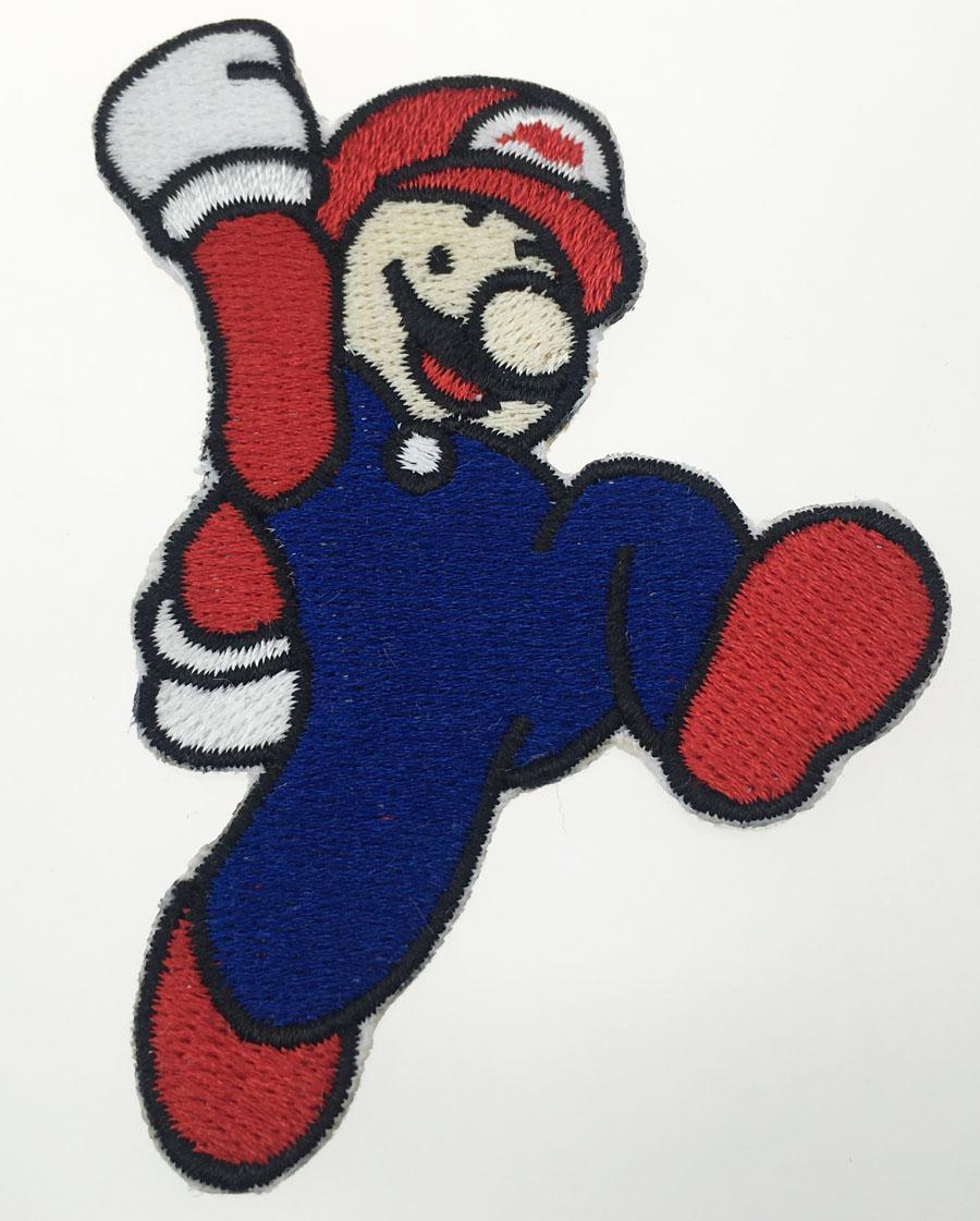 Spedizione gratuita Mix Cartoon Mario Patch 5 / pcs Molto personalizzato Ricamo Ferro Sew For Cloth Pocket