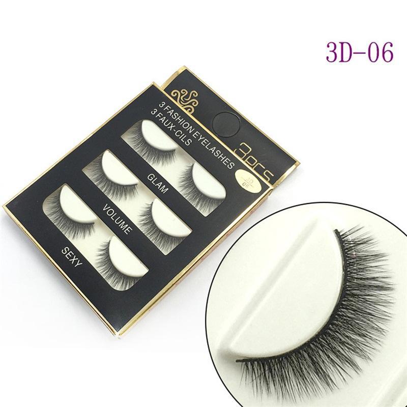 3D falsche Wimpern 16 Arten handgefertigte Schönheit dicke lange weiche Wimper gefälschte Wimpern Wimpern sexy 3001078