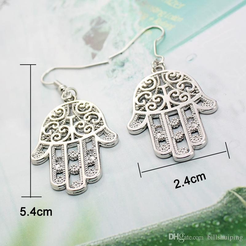 Fashion Jewelry New Arrivals Charm Drop Earrings For Women Hamsa Hand Fatima Palm Dangle