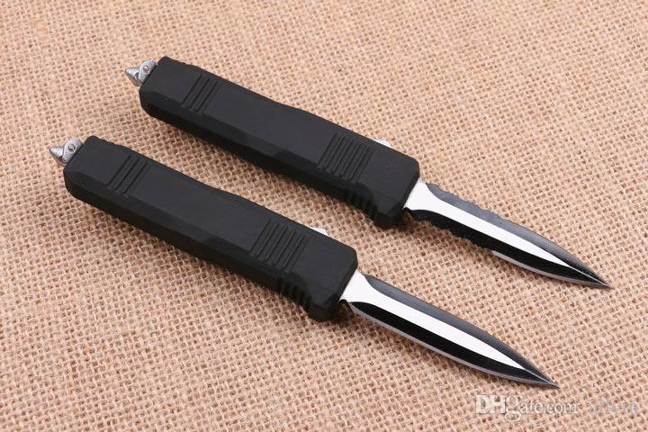 Schmetterling C07 AUTO Tactical-440C 58HRC Black Blade EDC Taschen-Messer mit Nylonhülle Weihnachtsgeschenk