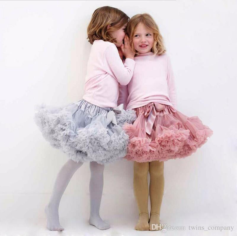 7ce6f0b29cd8 Buenos Ninos Girls Fluffy 2-18 Years Chiffon Pettiskirt Solid Colors ...