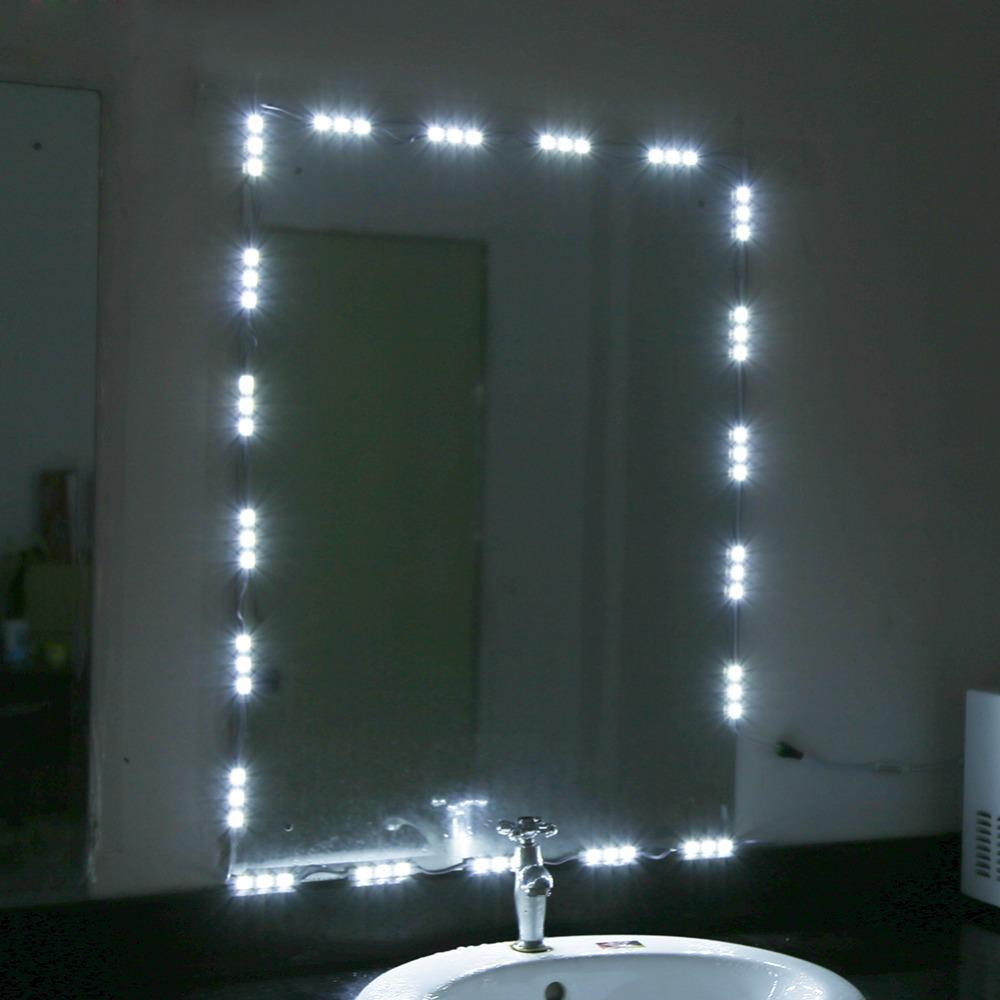 Wholesale- 5ft/10ft 12V LED White Dressing Mirror Lighting String ...