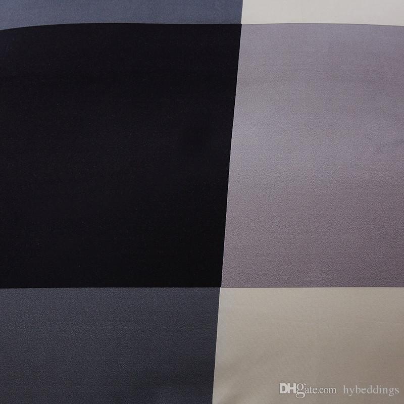 Brief Lump Juego de camas cuadrado Juego de edredón de estilo simple Juego de sábanas de cama de edredón Juegos de sábanas de matrimonio doble tamaño Queen Single