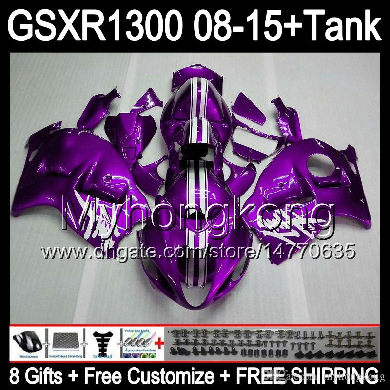 Glanz lila 8gifts für SUZUKI Hayabusa GSXR1300 2008 2009 2010 2011 14MY198 GSXR-1300 GSX R1300 GSXR 1300 2012 2013 2014 2015 TOP Verkleidung