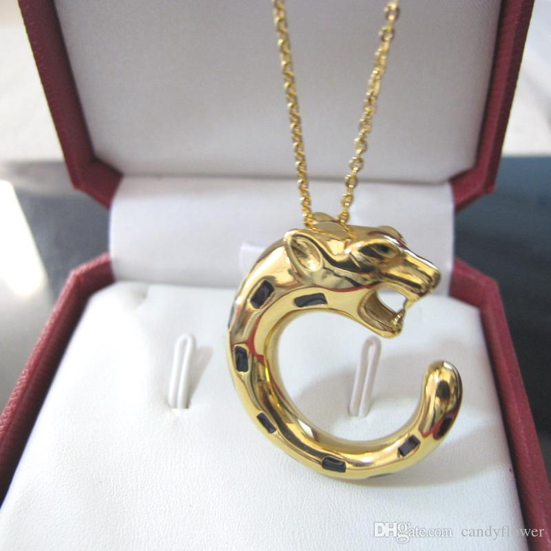 классическая Европа и американские моды леопарда подвески медные ожерелья дизайнера 18K позолоченные партия ювелирных изделий для женщин и мужчин