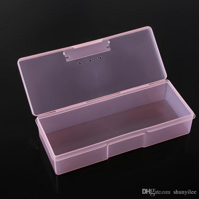 Boîte de rangement pour pinceaux Nail Art, grande capacité, pinceaux de maquillage transparents, crayons, trousses à outils