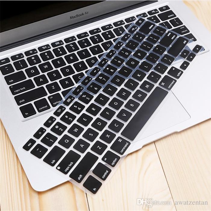 Spedizione gratuita -new cristallo guardia 11.6 pollici colorato silicone copertura della tastiera della tastiera di protezione a-p-p-l-e m-a-c-b-o-o-k aria